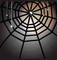 created halloween full moon night with spiders vector image