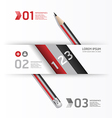 Creative Template with pencil banner vector image