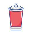 delicious fresh soda plastic cup vector image vector image