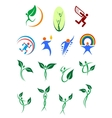 Eco friendly and environment protection symbols vector image vector image