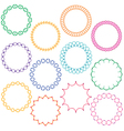 embroidered circle frames vector image vector image