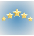 Five gold relief star icon Stock vector image vector image