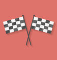 Flat icon of two crossed racing competition or vector image vector image