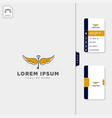 fly key wing logo template free business card vector image vector image