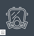 gas mask related thin line icon vector image