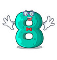 geek number house eight the shaped character vector image