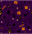 halloween seamless pattern design with ghost vector image vector image