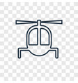 helicopter concept linear icon isolated on vector image