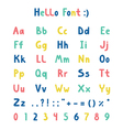 Hello font vector image