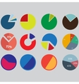 Infographic Elements pie chart set icon business vector image vector image