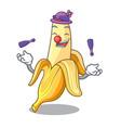 juggling tasty fresh banana mascot cartoon style vector image vector image