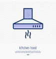 kitchen hood thin line icon vector image vector image