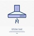 kitchen hood thin line icon vector image