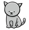 kitten cartoon character vector image vector image