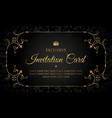 luxury invitation card design vector image vector image