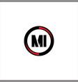 m i letter logo emblem design vector image vector image