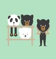 Mini Bear - Mascot vector image vector image