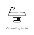 outline operating table icon isolated black vector image vector image