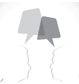 paper cut people communicate with blank message bu vector image