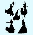 passionate woman dancing flamenco vector image vector image