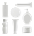 Plastic packaging cosmetics and hygiene vector image