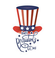 president day hat with usa flag and lettering vector image vector image