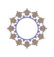 purple ornamental pattern frame vector image