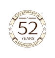 realistic fifty two years anniversary celebration vector image vector image