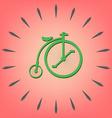 retro bicycle icon vector image vector image