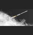 rocket flying at angle - diagonal - through vector image vector image
