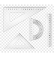 rulers and triangles vector image vector image