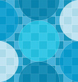 seamless pattern blue circles over checker vector image