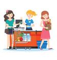 shopping supermarket vector image