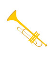 simple gold trumpet instrument graphic vector image vector image