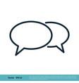 speech bubble icon logo template design eps 10 vector image vector image