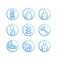 spine backbone flat line icons orthopedics