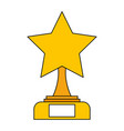 star trophy award competition victory vector image