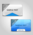 Stylish Web Boxes vector image vector image