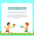 summertime children playing with water pistols vector image