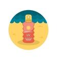 Sun Cream in Spray flat icon vector image vector image