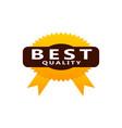template emblem best quality vector image vector image