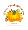 Thanksgiving Pumpkin isolated vector image vector image