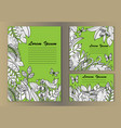 tropical flowers mock up set vector image vector image