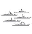 us frigates vector image vector image