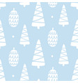 winter forest tree doodles seamless pattern vector image
