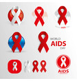 world aids day awareness medical signs vector image