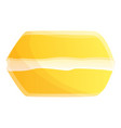yellow macaroon icon cartoon style vector image vector image