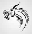 Dragon Head Tattoo Design vector image