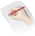 Writing hand vector image