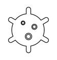 virus black icon vector image
